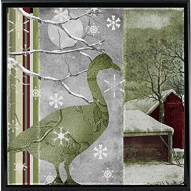 Loon Peak 'Country Xmas Duck' Graphic Art Print; Metal Black Framed