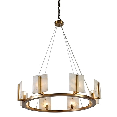 Latitude Run Innis Halo 8-Light Candle-Style Chandelier