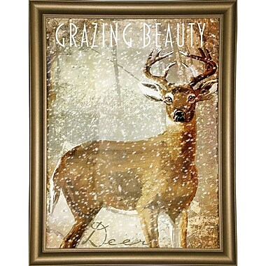 Loon Peak 'Winter Game' Graphic Art Print; Bistro Gold Framed