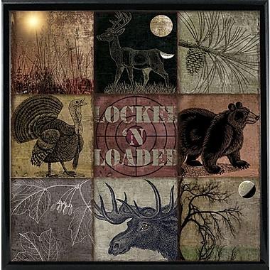 Loon Peak 'Cabela Clock' Graphic Art Print; Metal Black Framed
