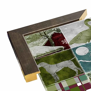 Loon Peak 'Country Christmas Nine' Graphic Art Print; Wrapped Canvas Floater Framed
