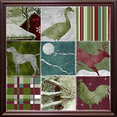 Loon Peak 'Country Christmas Nine' Graphic Art Print; Cherry Grande Framed
