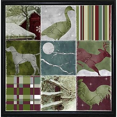 Loon Peak 'Country Christmas Nine' Graphic Art Print; Metal Flat Black Framed