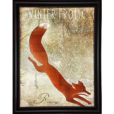 Loon Peak 'Winter Game One' Graphic Art Print; Bistro Expresso Framed