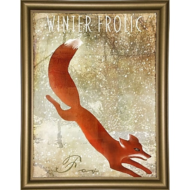Loon Peak 'Winter Game One' Graphic Art Print; Bistro Gold Framed