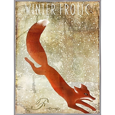 Loon Peak 'Winter Game One' Graphic Art Print; Metal White Framed