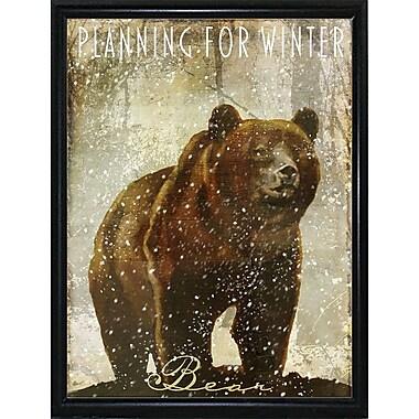 Loon Peak 'Winter Game Three' Graphic Art Print; Metal Flat Black Framed