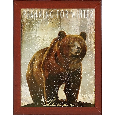 Loon Peak 'Winter Game Three' Graphic Art Print; Red Mahogany Medium Framed