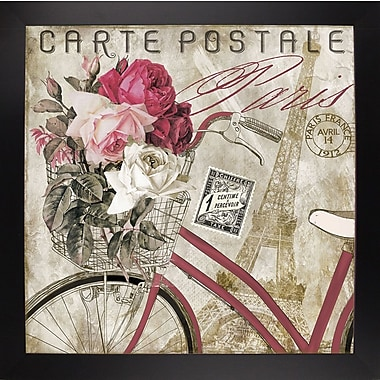 Ophelia & Co. 'Postale Paris I' Graphic Art Print; Black Large Framed