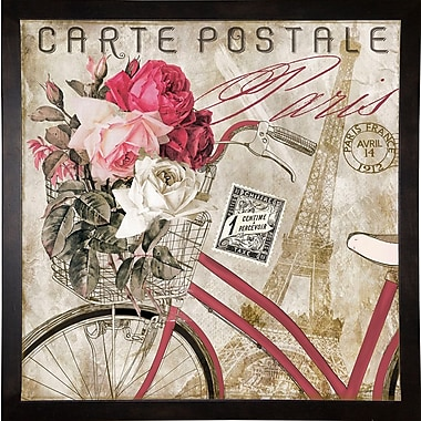 Ophelia & Co. 'Postale Paris I' Graphic Art Print; Cafe Espresso Framed