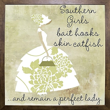 Ophelia & Co. 'Southern Belles Two' Graphic Art Print; Cafe Mocha Framed