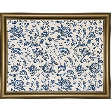 Ophelia & Co. 'Toile Fabrics' Graphic Art Print; Bistro Gold Framed