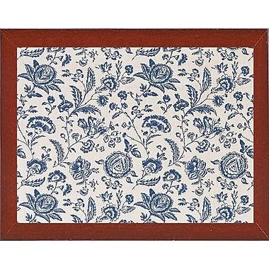 Ophelia & Co. 'Toile Fabrics' Graphic Art Print; Red Mahogany Medium Framed