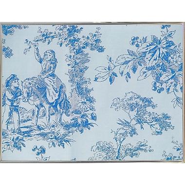 Ophelia & Co. 'Toile Fabrics V' Graphic Art Print; Metal Silver Framed