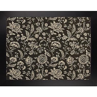 Ophelia & Co. 'Toile Fabrics VIII' Graphic Art Print; Black Large Framed