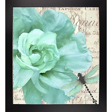 Ophelia & Co. 'Petals Impasto III' Graphic Art Print; Black Large Framed