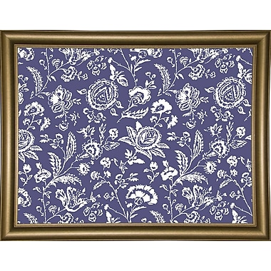 Ophelia & Co. 'Toile Fabrics X' Graphic Art Print; Bistro Gold Framed