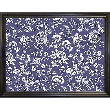 Ophelia & Co. 'Toile Fabrics X' Graphic Art Print; Black Grande Framed