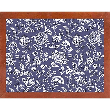 Ophelia & Co. 'Toile Fabrics X' Graphic Art Print; Canadian Walnut Medium Framed