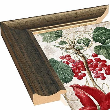 The Holiday Aisle 'Christmas' Rectangle Graphic Art Print; Canvas Maple Floater Framed
