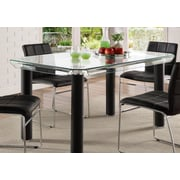 Orren Ellis Len Rectangular Counter Height Dining Table; Black