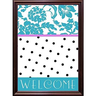 Red Barrel Studio 'Teal Dots' Graphic Art Print; Cherry Grande Framed