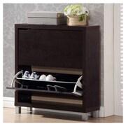 Rebrilliant 12-Pair Espresso Shoe Storage Cabinet