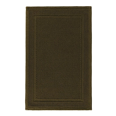 The St. Pierre Home Fashion Collection Graccioza Bee Waffle Bath Rug; Olive