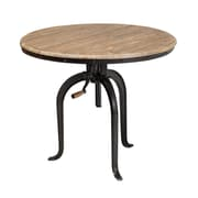 17 Stories Jacynthia Reclaimed Oak Industrial Dining Table