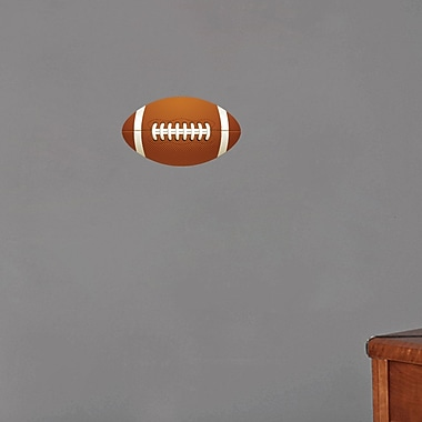 SweetumsWallDecals Football Printed Wall Decal; 7'' H x 12'' W