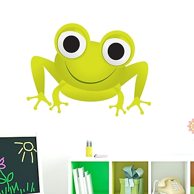 SweetumsWallDecals Frog Printed Wall Decal; 27'' H x 36'' W