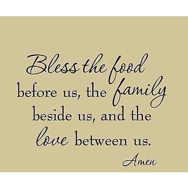 VWAQ Bless the Food Before Us the Family Beside Us and the Love Between Us Wall Decal