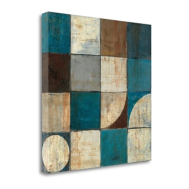 Tangletown Fine Art 'Tango Detail I Blue Brown' Print on Wrapped Canvas; 35'' H x 35'' W