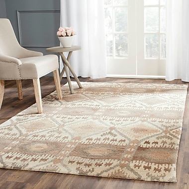 Union Rustic Roberts Brown Area Rug; 4' x 6'