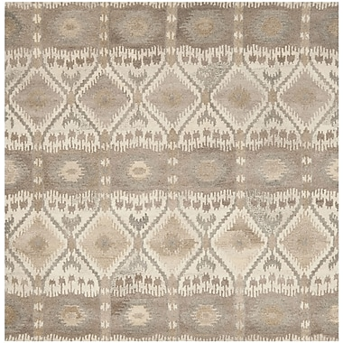 Union Rustic Roberts Brown Area Rug; Square 7'