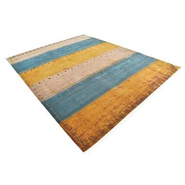 Varick Gallery Purington Blue/Yellow/Beige Area Rug; Rectangle 8'2'' x 10'