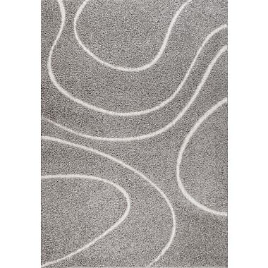 Varick Gallery Quaoar Gray Wave Area Rug; 2' x 3'
