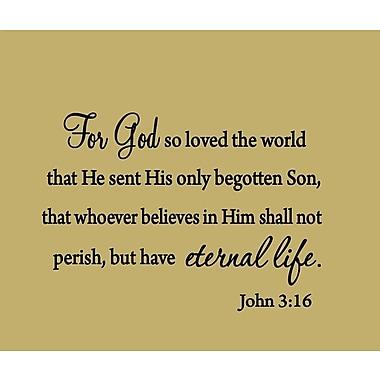 VWAQ For God So Loved the World John 3:16 Bible Wall Decal