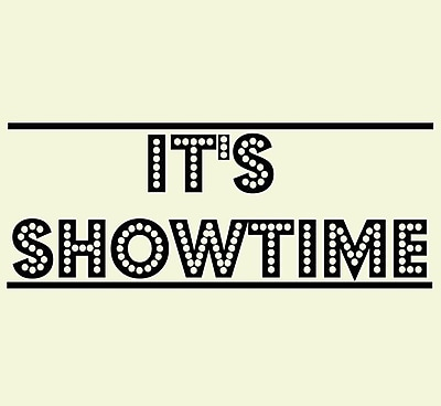 VWAQ It's Showtime Vinyl Wall Decal