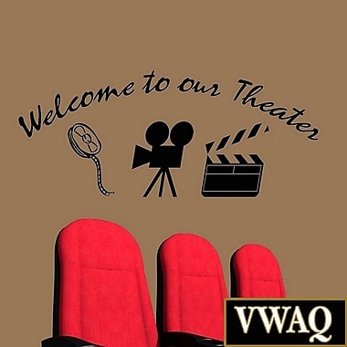 VWAQ Welcome to Our Theater Home Movie Wall Decal