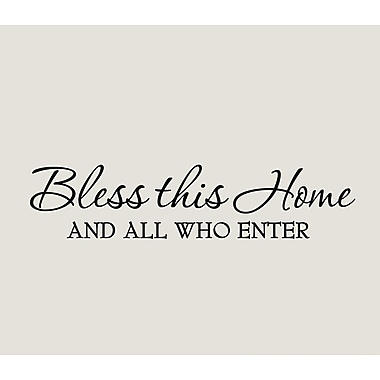 VWAQ Bless This Home and All Who Enter Wall Decal