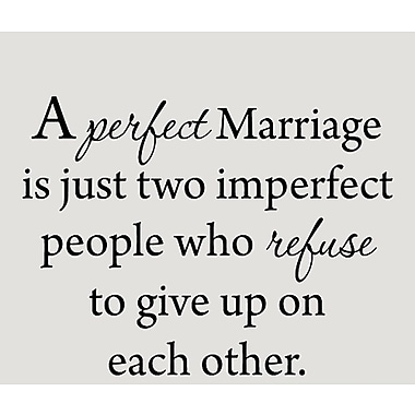 VWAQ A Perfect Marriage is Just Two Imperfect People Love Wall Decal