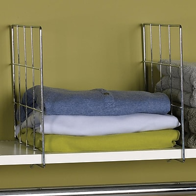 Household Essentials® Wire Shelf Divider, Chrome, 2/Set