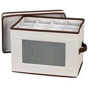 Household Essentials® Stemware Flute Storage Chest, Natural
