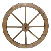 Cathay Importers Wood Wagon Wheel Decor, Brown, 2/Pack (EC-11-1115)
