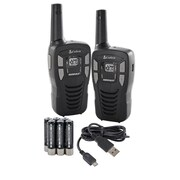 Cobra Walkie Talkie 16 Miles 2-Way Radio, Black, (ACXT145)