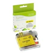 Fuzion – Cartouche d'encre jaune compatible Brother LC103, rendement élevé (LC103BKS)