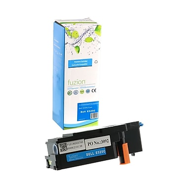 fuzion - Cartouche de toner cyan neuve, compatible Dell E525W, haut rendement, (593-BBJU)