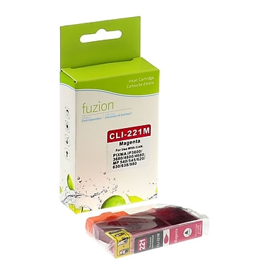 fuzion™ New Compatible Canon CLI221M Magenta Ink Cartridges, Standard Yield (2948B001)
