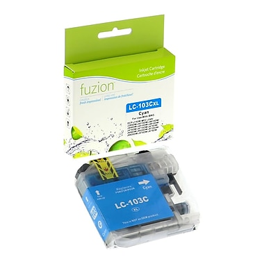 fuzion™ New Compatible Brother LC103 Cyan Ink Cartridges, High Yield (LC103CS)